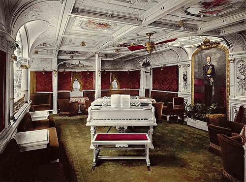 First Class Music Room - SS Kronprinz Wilhelm