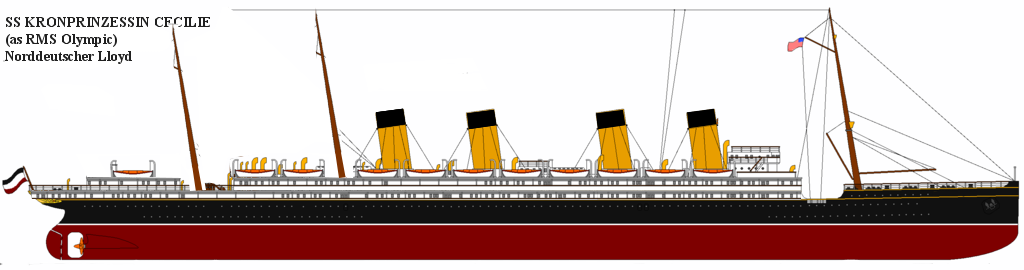 Famous Four Stackers Kronprinzessin Cecilie Ocean Liner